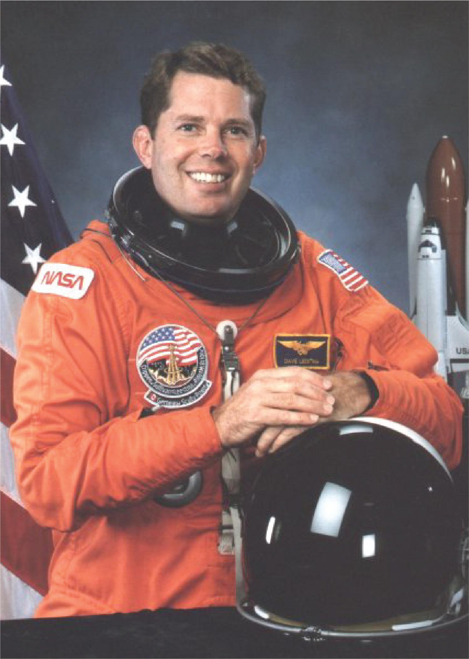 Astronaut David C. Leestma
